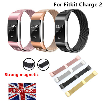 Magnetic Milanese Stainless Steel Watch Band Strap For Fitbit Charge 2 UK cckk