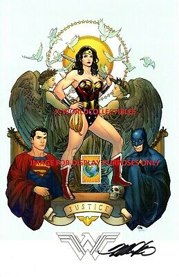FRANK CHO JUSTICE LEAGUE FINE ART PRINT NYCC 2018 SIGNED 11x17