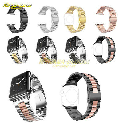 Stainless Steel Wrist Strap Band Protect Case For Apple Watch iWatch 38mm/42mm