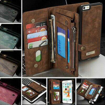 For Samsung Galaxy S9/8/Note9 Leather Purse Wallet Case Magnetic Removable Cover