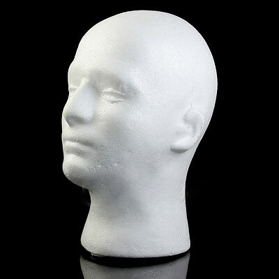 Male Polystyrene Styrofoam Models Head Mannequin Stand Wig Hairs Hat Display UK