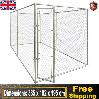 Heavy Duty Outdoor Dog Kennel House Cage Palypen Run Training Playing Durable UK