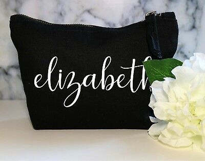 Personalised Name Make Up Cosmetic Bag Wife Fiance Wedding Bride Sister Wifey