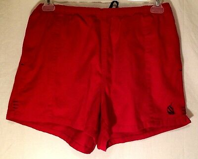 Vintage 90s Nautica Red Classic Shorts Boating Deck Tennis Men's Size Medium