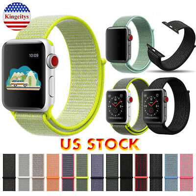 US Woven Nylon Sport Band Strap Bracelet For Apple Watch Series 1/2/3 38MM/42MM