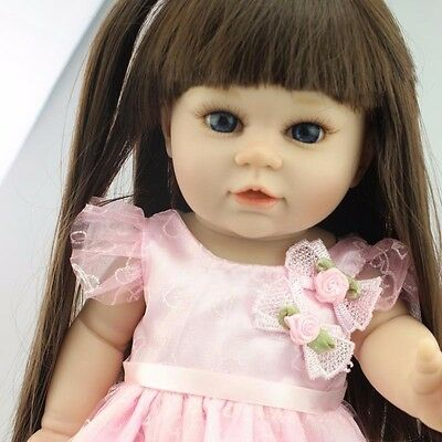 18'' Toddler Reborn Baby Girl Doll Realistic Lifelike Vinyl Newborn kids gifts