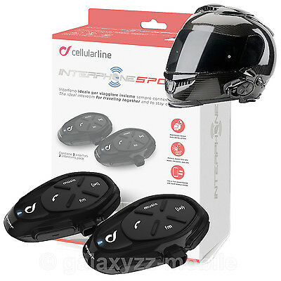Interphone SPORT TwinPack Bluetooth Motorrad Gegensprechanlage Helm Intercom