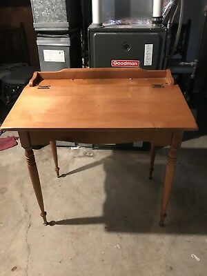 Wood Desk With Slant Top