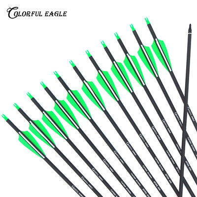 """30"""" archery hunting carbon arrows for Compound/recurve bow with Replaceable Tips"""