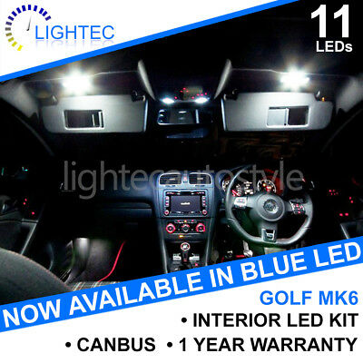 Vw Golf Mk6 Interior Lighting Upgrade Kit White Blue Led Bulb Set Puddle Mirror