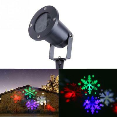 Outdoor Waterproof LED Christmas Snowflake Pattern Projection Lamp Color lights