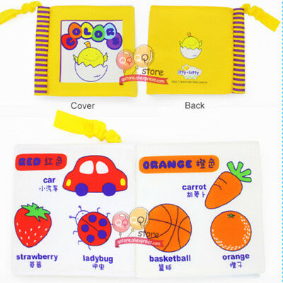 Baby Kids Early Learning Educational Animals Fruit Read Soft Toys Cloth Book LH