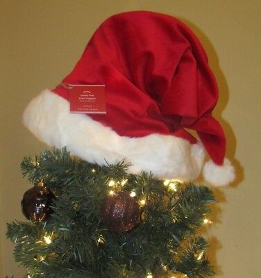61fc6a2bf7625 Pottery Barn Christmas Santa Hat Tree Topper New with tag   FAST FREE  SHIPPING!