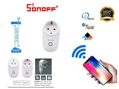 Sonoff S26 EU (F) Plug TFTTT WIFI Smart Power Socket Wireless Time APP Control K