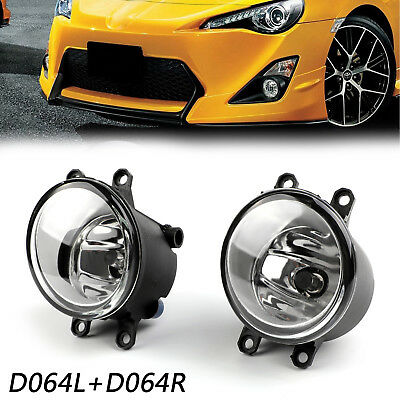 2X Universal Fog Light Lamp Left Right Side For Lexus Toyota Camry Yaris  A2
