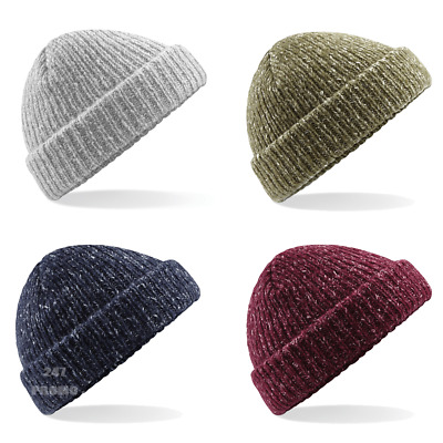 cbc3d1c8a BEECHFIELD TRAWLER BEANIE Fisherman Style Chunky Double Layer Warm Hipster  Hat