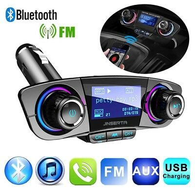 Wireless Bluetooth Handsfree Car Kit FM Transmitter MP3 Player USB Charger AUX