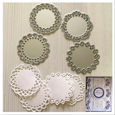 Metal Cutting Dies lace flower For Card Making Decorative Embossing 4pcs
