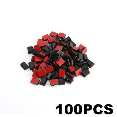 100 pcs Adhesive Cable Clips Wire Clamps Car Cable Organizer Cord Tie Holder MY
