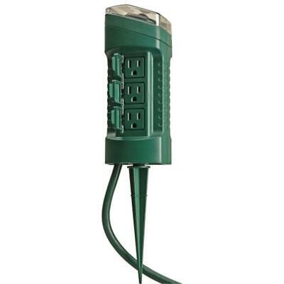 Woods MultiOutlets 13547WD Outdoor Yard Stake Photocell Built-In Timer, 6 6ft