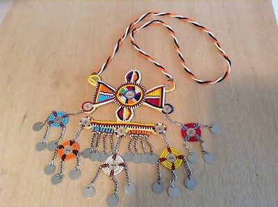 African-Arena Maasai Masai Beaded Moran Tribal Warriors Necklace Jewelry AA826
