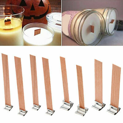 10x DIY Wooden Candle Wicks Core Multi Size Sustainer for Candle Making Supplies