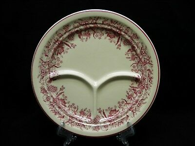 Restaurant Ware Shenango China Inca Ware Divided Plate Vintage Red Transfer USA