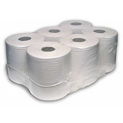 WHITE ROLL 2Ply centrefeed rolls, paper hand towels, absorbant * *Various qty **