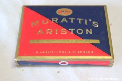 Scatola Di Sigarette D'epoca Muratti's Ariston Vintage Pocket Cigarettes Box
