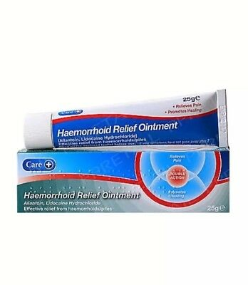 Haemorrhoid, Piles, Ointment Cream 25g Relieves Pain & Promotes Healing Care+