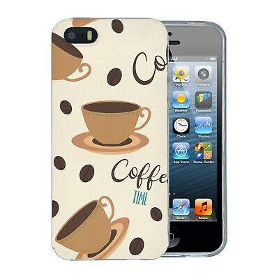For Apple iPhone 5 5S SE Silicone Case Trending Coffee Time - S1111