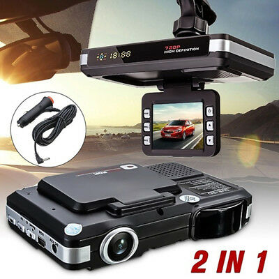 "2.0"" Car Dvr Recorder Camera Radar Laser Speed Detector Traffic Alert YR"