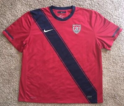 f2794627abf 2010 USMNT USA Soccer World Cup Jersey Nike Authentic Size XL Dri ...