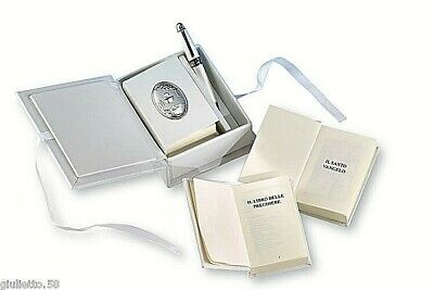 FAVOURS COMMUNION Book of prayers with SHEET STEM GLASS 925 SILVER% 10697