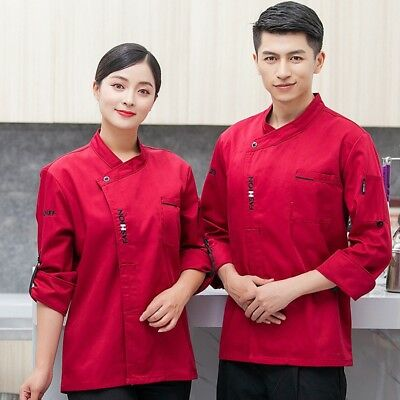 Unisex Classical Chef Coat Coffee Store Hotel Restaurant Cooking Uniform Jacket