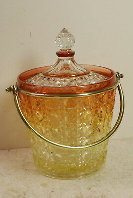Baccarat biscuit glass  jar, replaced lid, very heavy, late 19th century
