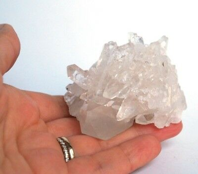 REIKI CHARGED UNIQUE CLEAR QUARTZ  CLUSTER NATURAL CRYSTAL STONE PIECE 124g