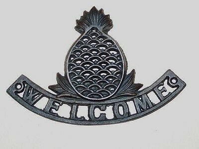 Nwot Cast Iron Welcome Sign W/pineapple - Never Used - Quality & Heavy