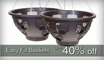 ENTIRE Plantopia Easy Fill Hanging Baskets Range & Wall Pedestals Water Device