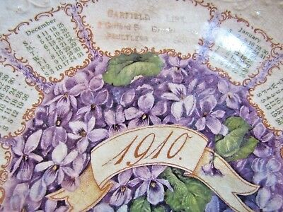 Antique 1910 Calendar Plate Garfield & Link Grocery Gifford Blvd Brooklyn Ohio