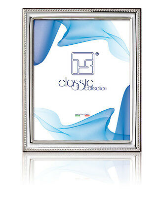 FAVOURS Cm.18x24 H PICTURE FRAME DECORATION BEADED SHEET 925 SILVER% 875