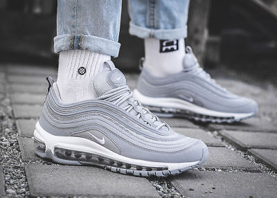 reputable site e1dfa dd427 Nike Air Max 97 OG GS Wolf Grey Silver Kid s Women s Trainers Sizes 3 4 5