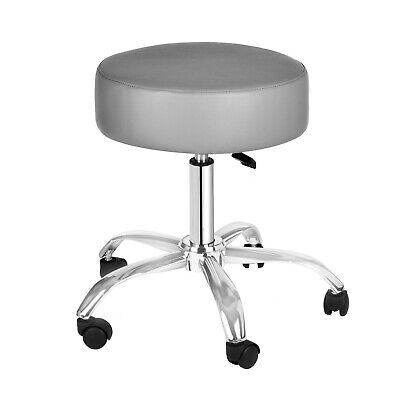 AdirMed Faux Leather Medical Office Industrial Adjustable Mobility Stool