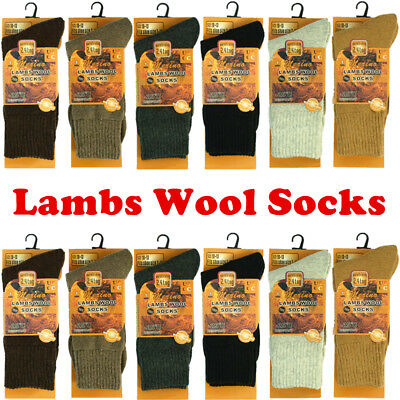 1-12 Pairs For Mens Lot Wool Boots Thermal Crew Socks Working Winter Warm 10-13