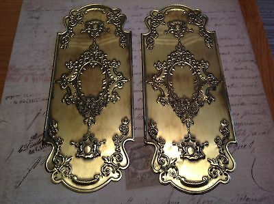 Reclaimed Solid Brass Door Finger Plates Antique finish Churb Design 1