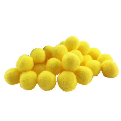 100 Pieces Fluffy Small Craft Pompoms Crafts Decorations Yellow DIY Balls