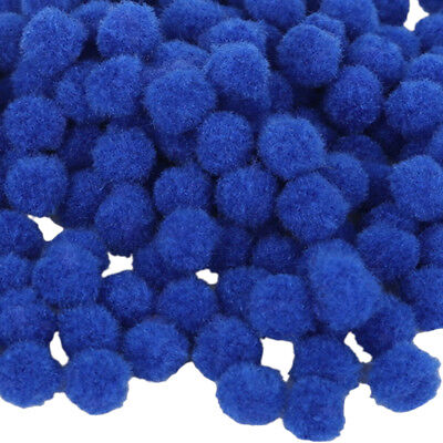 100 Pieces Fluffy Small Craft Pompoms Crafts Decorations Blue DIY Balls