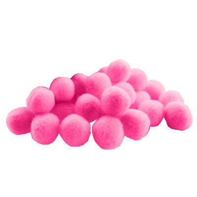 100 Pieces Fluffy Small Craft Pompoms Crafts Decorations Pink DIY Balls