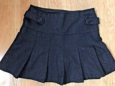 SCHOOL GIRLS TEEN Black SPARKLE Mini Skirt Scooter Shorts 14 Skort Limited Too
