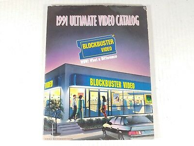 Blockbuster Ultimate Catalog 1991 Video Store VHS DVD Jetsons Movies 90s